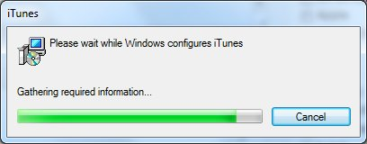 Stupid iTunes 10 Startup Window