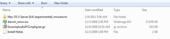 Installing Mac OS X (Snow Leopard) in VMWare Player 3 (2/2)