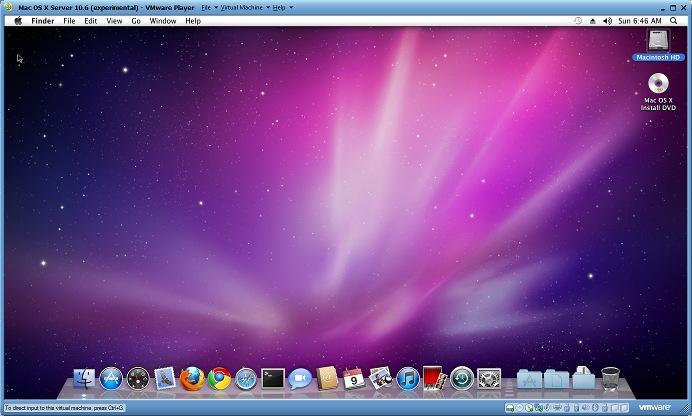 Installing Mac OS X (Snow Leopard) in VMWare Player 3 (1/2)