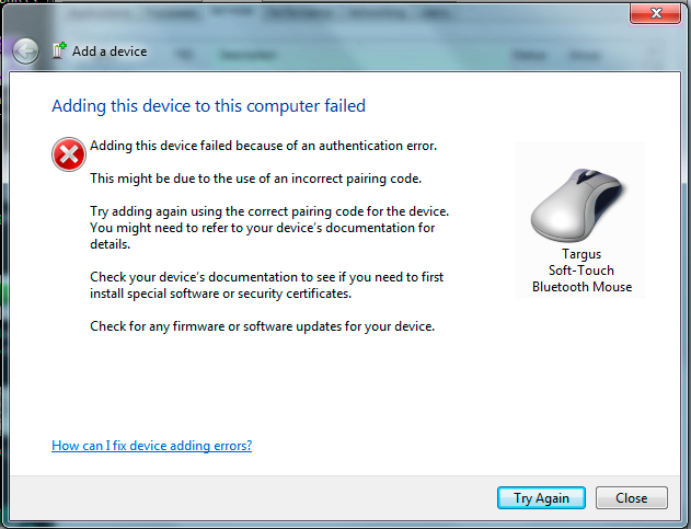 mouse fix windows 7