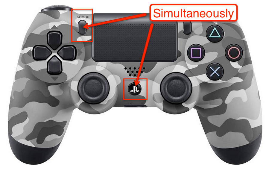 ps4 controller not pairing with mac