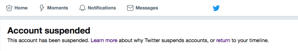 Twitter Suspended