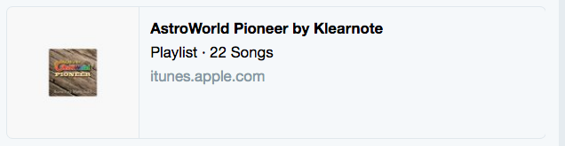 Apple Music Playlist Twitter Card