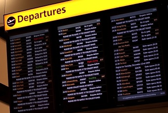 Photo of departure board courtesy of Blane